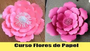 Curso gratis de flores de papel